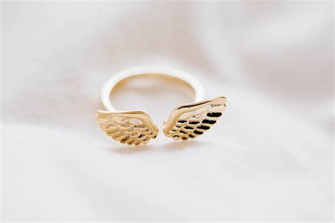 Glazed Wings Ring,unique Ring/adjustable Ring/knuckle Ring