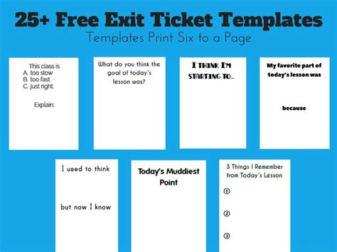 e ticket templates free 1000 images about exit slips on assessment