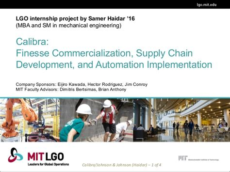 Mit Lgo Vs Mba by Lgo 2016 Research Internship Projects
