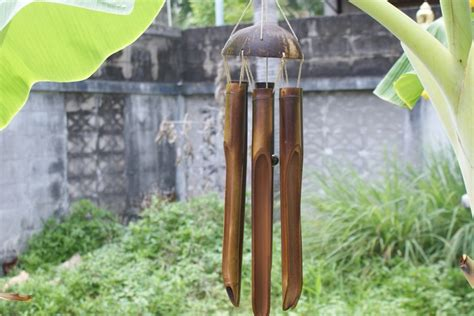 Eco Bamboo Wind Chime by Bamboo And Coconut Shell Wind Chime Eco Living
