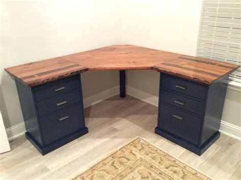 Colorful Custom Bedford Corner Desk Do It Yourself Home Plans For Corner Desk