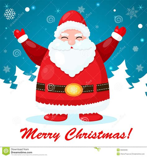 free santa card templates and card with santa stock vector