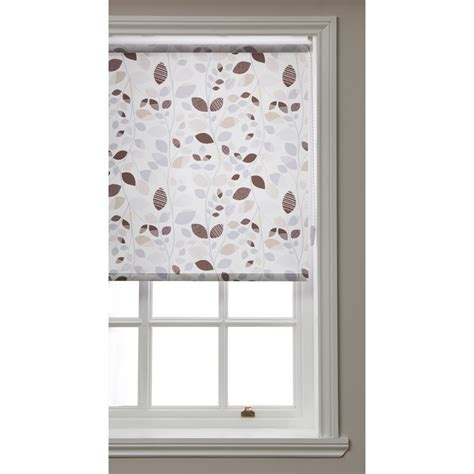 herb pattern roller blind wilko tribal fall leaf roller blind 180cm wide x 160cm