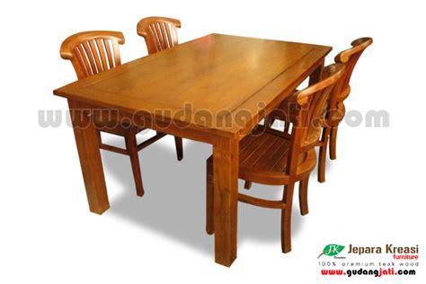 Meja Makan Jati 6k Casandra meja makan banteng 6k jepara kreasi furniture