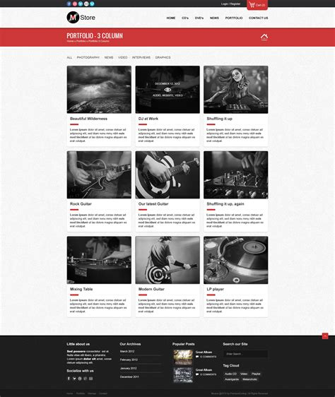 house music theme rock palace music wordpress theme by gljivec themeforest