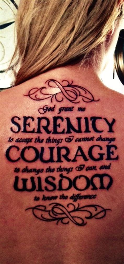 serenity courage wisdom tattoo serenity prayer tattoos designs ideas and meaning