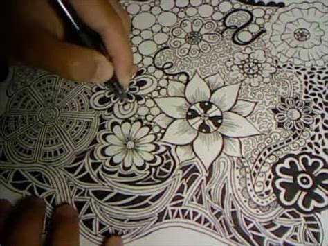 Doodle Flowers Explosion Doodle Drawing 3
