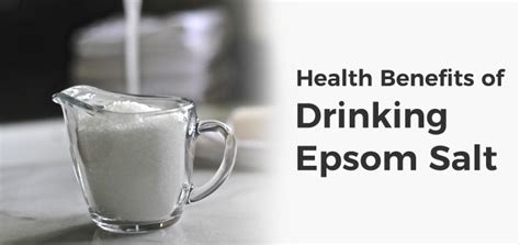 Can You Drink Epsom Salts To Detox by Epsom Salt Health Benefits And Side Effects
