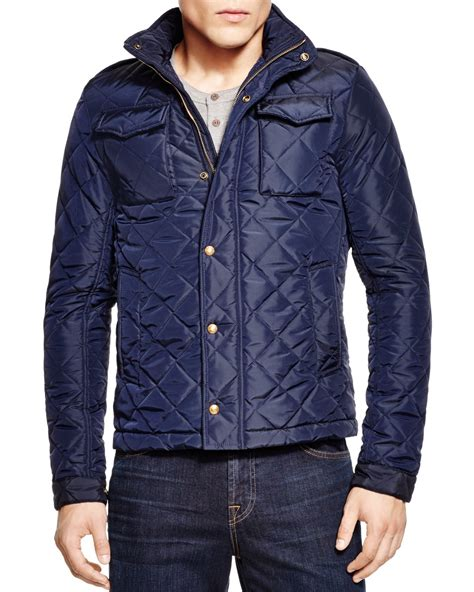Scotch And Soda Quilted Jacket by Scotch Soda Quilted Oxford Jacket In Blue For