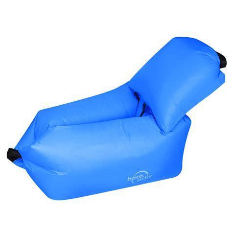 Lazy Bag Sofa Angin hoco reo kasur angin lazy bean bag sofa blue