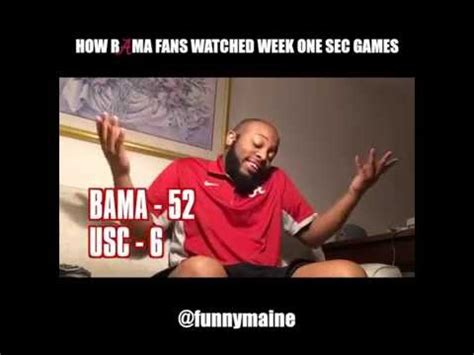 how alabama fans watched how bama fans watched the week one sec games 2016 youtube