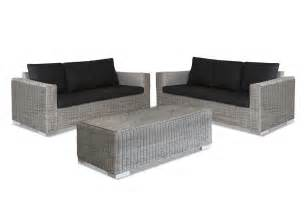 Bayside 2 X 3 Seater Outdoor Lounge And Coffee Table