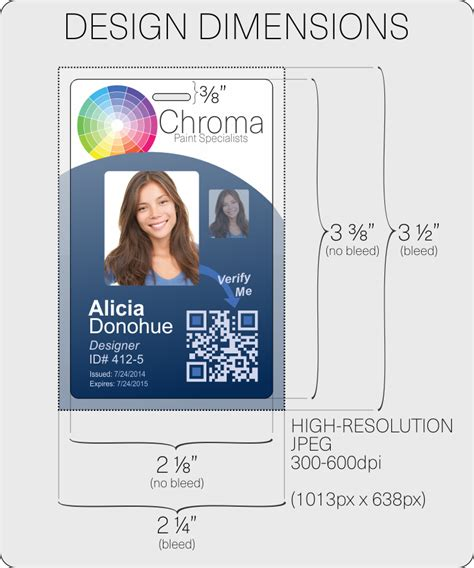 Credit Card Size Id Template id card layout and artwork guidelines instantcard