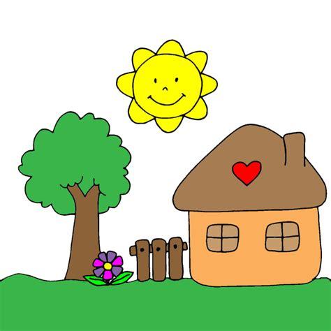 disegno casa sta disegno di casetta in cagna a colori