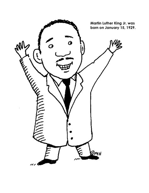 printable coloring page of martin luther king jr martin luther king jr coloring pages and worksheets best
