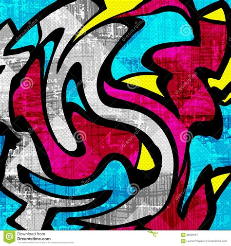 abstract graffiti pattern beautiful color abstract pattern vector illustration of