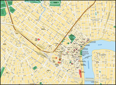 usa map states new orleans map of new orleans city maps of united states