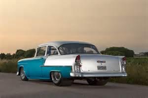 1955 pro chevy hits the swedish drag