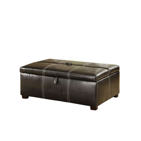 Espresso Ottoman Storage Tebow Espresso Storage Ottoman With Bed Home Furniture Direct