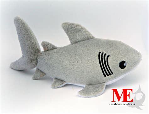 shark plush great white shark plush custom color and size baby blue
