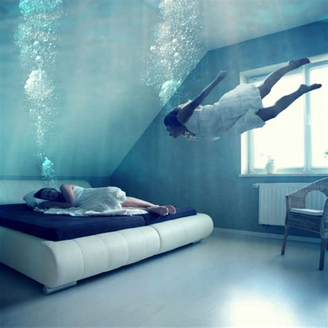 Moisture In Bedroom by Like In A Surrealist Photographs Of Anja Stiegler