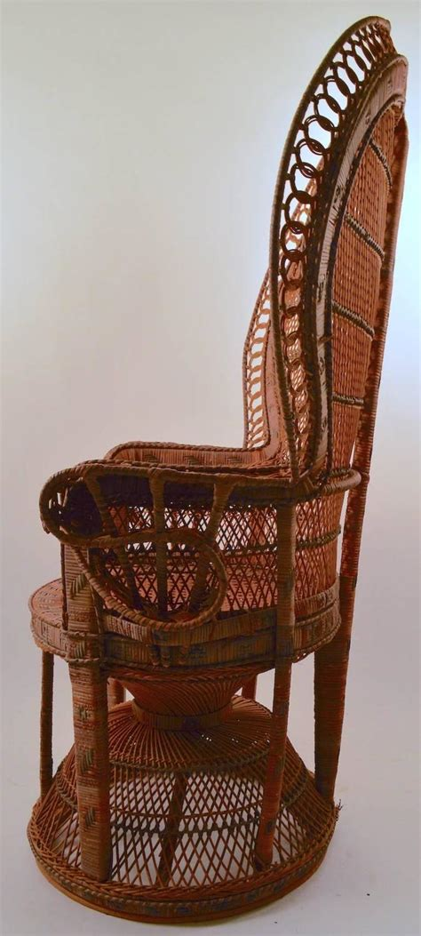 Peacock Chair For Sale by Classic Wicker Emanuelle Peacock Chair For Sale At 1stdibs