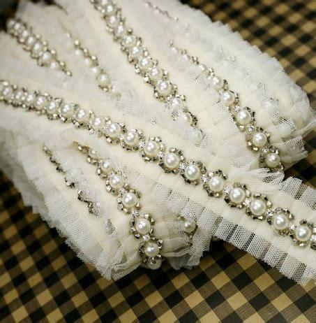 sash bead moulding beaded trim rhinestone trim bridal sash trim by