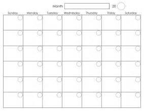 plain calendar template printable blank monthly calendar activity shelter