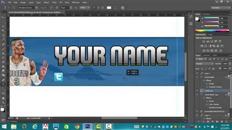 Custom Youtube Banner Photoshop Cs6 Tutorial Youtube 2k17 Banner Template