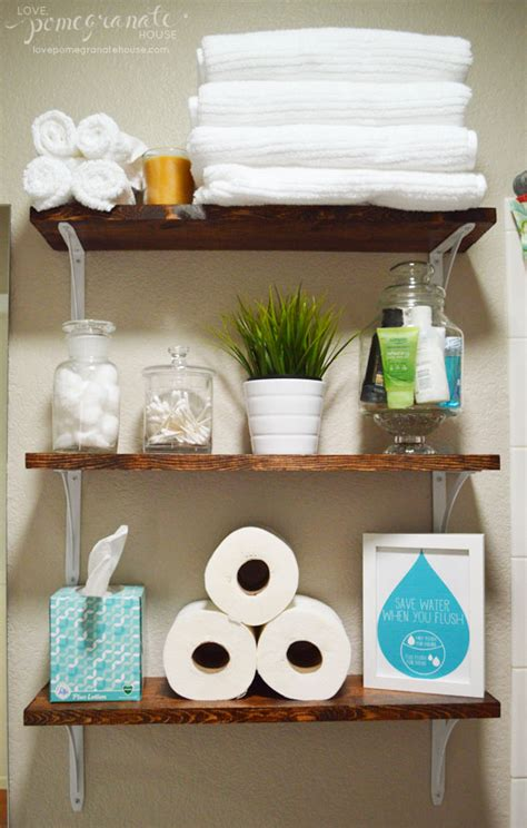 Home Depot Bathroom Shelves by Bathroom Shelves Everything To Make Them Is From Home