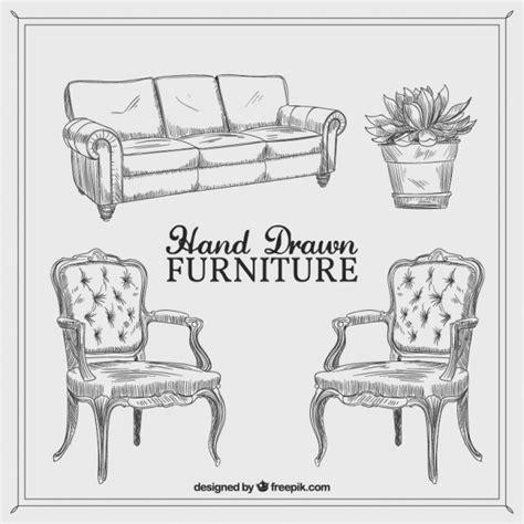 drawn couch hand drawn vintage furniture vector premium download