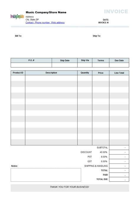 Free Editable Invoice Template Pdf 28 Images Best Photos Of Editable Blank Invoice Free How To Make Editable Pdf Template