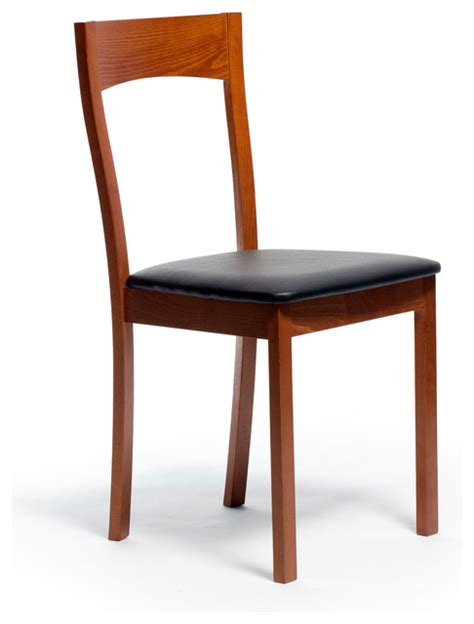 janna dining chair set of 2 cherry contemporary