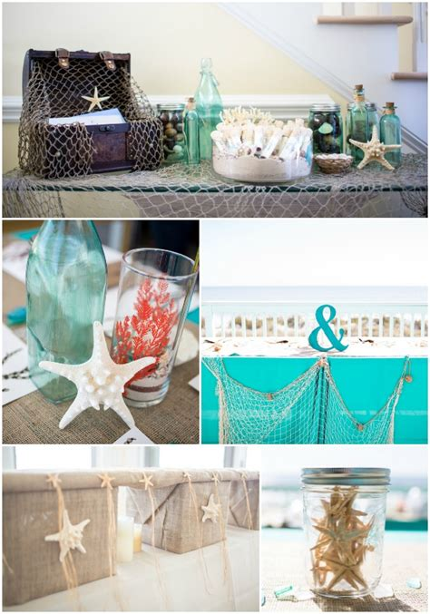 coral and teal wedding
