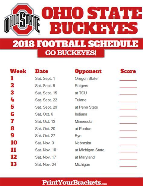printable schedule ohio state football 2015 college football 2017 inforoo com bonnaroo 2018