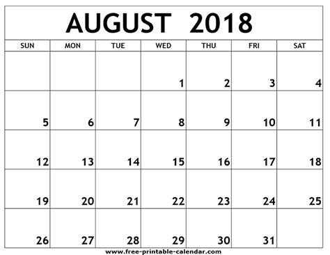printable calendar august 2018 august 2018 printable calendar