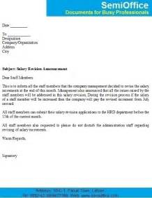 Salary Revision Letter Sample for Employees