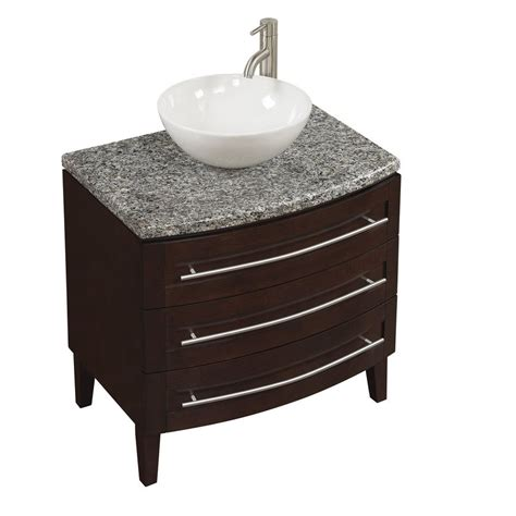 style selections 30 in flannery chocolate bathroom vanity