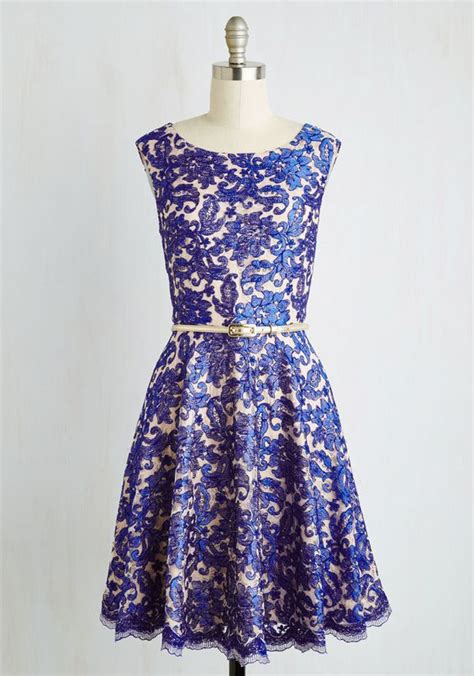 Modcloth Cqs New Vintage Obsession by Arabesque Dress Prom Blue Weddings And Places