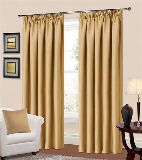 PLAIN STONE BEIGE COLOUR THERMAL BLACKOUT READYMADE