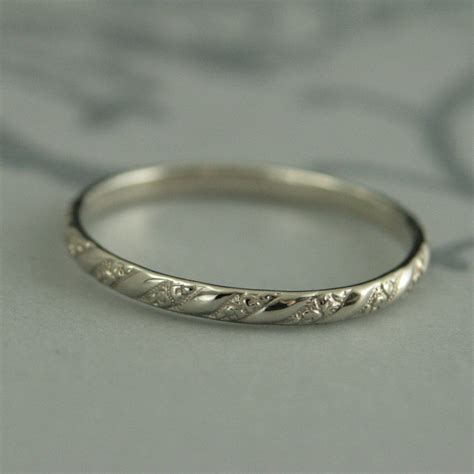 white gold pattern ring thin white gold bandversailles pattern bandwomen s