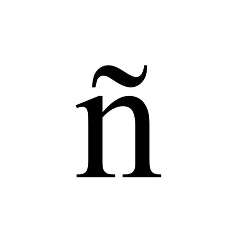 Character With Letter N 241 Small Letter N With Tilde Times New Regular Graphemica
