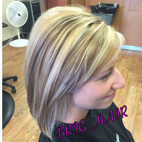 blonde highlights with mahogany low lights golden caramel base color with cool blonde highlights and