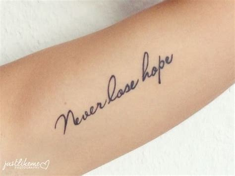 never lose hope tattoo 25 best ideas about never lose on keep