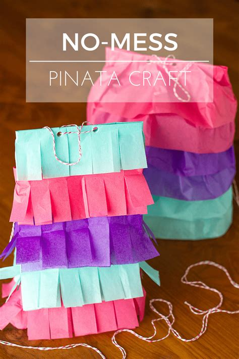 no mess crafts for simple no mess paper bag pinata craft for and