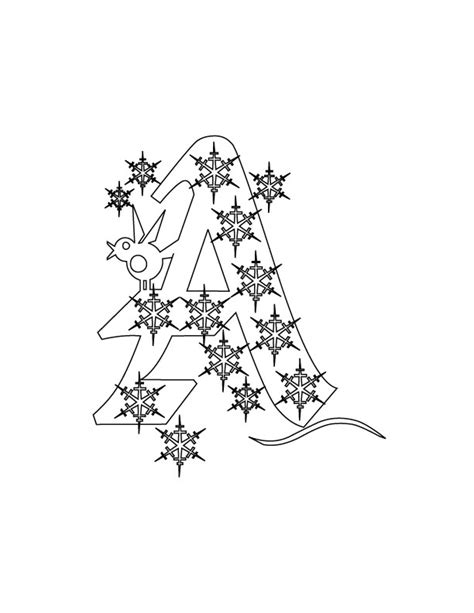 free coloring pages of christmas alphabet