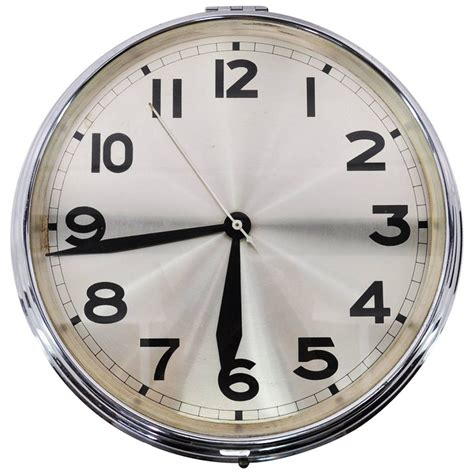 wall clock art art deco wall clock at 1stdibs