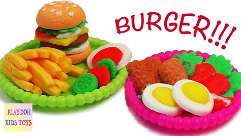 play doh play doh burger hamburger playdough cooking kitchen