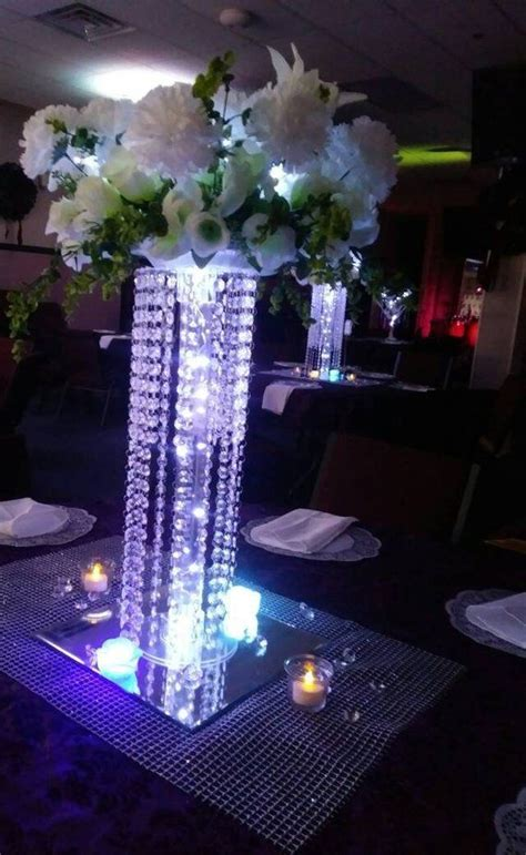6 set chandelier centerpieces for wedding tabletop