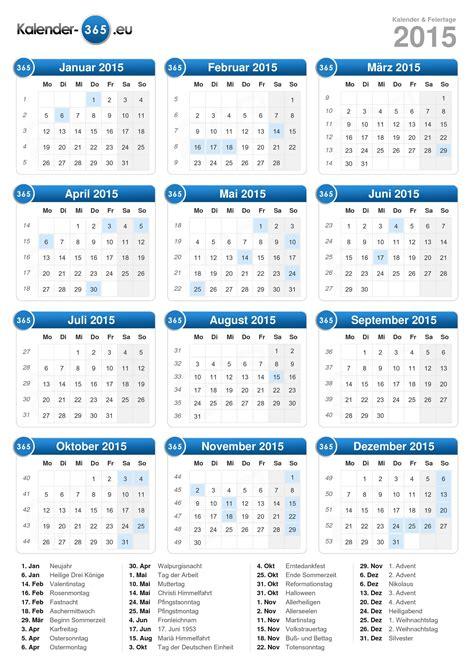 Kalender 2015 Mit Feiertagen Kalender 2015